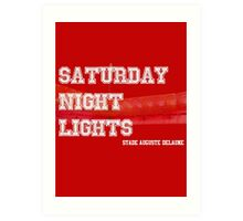 Saturday Night Lights Art Print