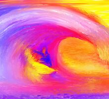 Surfer Spirit, Surfer art by James Cattlett by CattlettArt