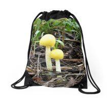 Bright Yellow Drawstring Bag