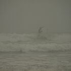 Surfing a Foggy Dawn by Jason Lee Jodoin