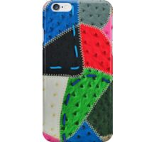 Background of the leather pieces iPhone Case/Skin