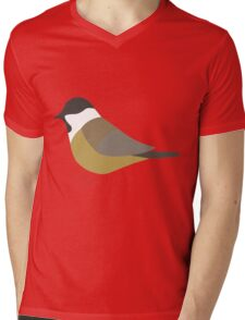 Willow Tit Bird / Poecile Montanus Mens V-Neck T-Shirt