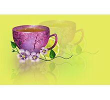 Illustration Sunny Breakfast Photographic Print