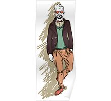 man in fashion clothes Poster