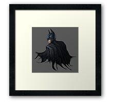 Angry Batman Framed Print