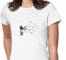 on the wind... Womens Fitted T-Shirt