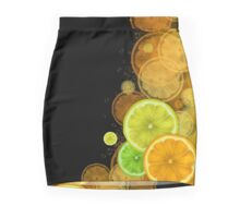 Citrus background Mini Skirt