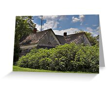 Old Abandoned Country House Greeting Card