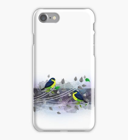 Vintage border with birds iPhone Case/Skin