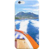 Boat Leaving the Isle of Capri iPhone Case/Skin