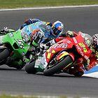 Chasing Elias - MotoGP Phillip Island by Mirko Mujica