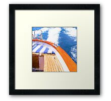 Boat and Waves Framed Print