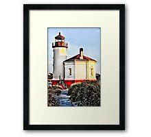 lighthouse hdr Framed Print