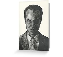 Moriarty Evil Super Villian Greeting Card