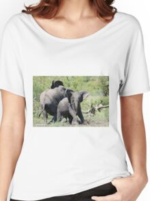 O NO, THIS IS MY SPACE! THE AFRICAN ELEPHANT – Loxodonta Africana - AFRIKA OLIFANT Women's Relaxed Fit T-Shirt