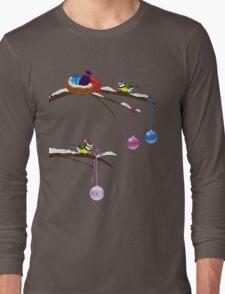 Chickadees celebrate Christmas Long Sleeve T-Shirt