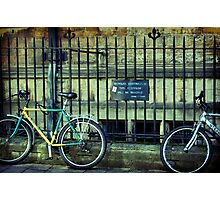 Bicycles on the Footpath Photographic Print