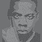 Jay-Z Lyric Portrait by Donal Murphy