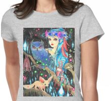 Lights in the darkness Womens Fitted T-Shirt