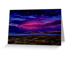 """Twilight Rainstorm"" Greeting Card"
