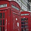 red phone booth by paolo amiotti