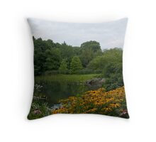 The Pond at Central Park New York Throw Pillow