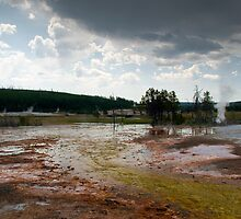 Grand Prismatic Springs Midway Geyser Basin Yellowstone NP by Rob Schoon