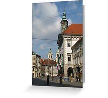 Ljubljana Mestni trg  Greeting Card