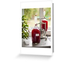 Making Country Wine: Plum Greeting Card