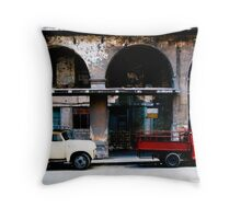 Red Lorry, Yellow Lorry Throw Pillow