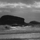 Sillouette Surfer by Liam  Outram