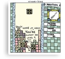 127 Hours + Tetris Canvas Print