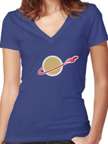 LEGO SPACE ENTERPRISE Women's Fitted V-Neck T-Shirt