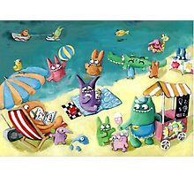 Monster Summer Time on the Beach Photographic Print