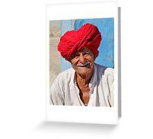 Red turban Greeting Card