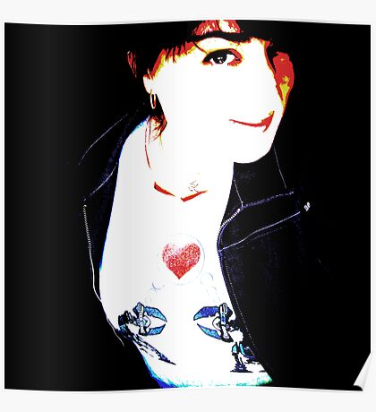 Tania Rose - robot tee self portrait Poster
