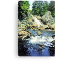 Quiddy Falls, Kings Co., New Brunswick, Canada Canvas Print