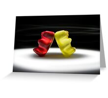 Gummy Bear Photography - I Got Your Back, You Got Mine.  Greeting Card