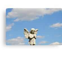 Guardian Angel Blue Skies  Canvas Print