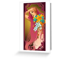 Woman of Spring Time Greeting Card