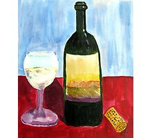 Relax And Have a Glass of Wine Photographic Print