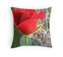 My First Red Rose Throw Pillow