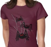 Creepy Spider Invasion Womens Fitted T-Shirt