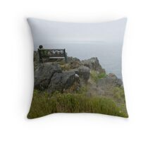 Out over the foggy Bay  Throw Pillow