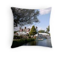 The Anchor Inn Throw Pillow