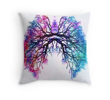 Breathe Branches Lungs Throw Pillow