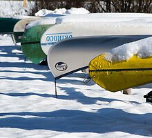 Kayaks in Winter by Kasia-D