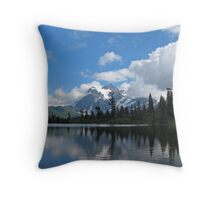 Picture Lake Throw Pillow