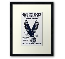 1943 Victory Book Campaign Framed Print