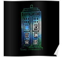 TARDIS - 'It's bigger on the inside' quote Poster